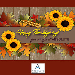 Happy Thanksgiving from Absolute!