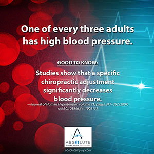 Good to Know: Chiropractic and High Blood Pressure