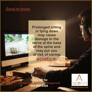 Sciatica and Prolonged Sitting