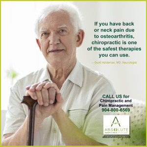 Back and Neck Pains Caused by Osteoarthritis: Chiropractic Helps!